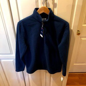 NWT Izod Navy Blue 1/4 Zip Sweater Pullover Small